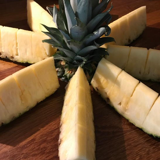 Portion up the pineapple