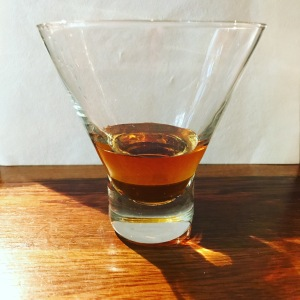 A glass of Stroopwafel Liquer